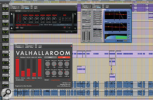 Several different reverb plug-ins were used on the drums, with automation bringing them in and out during the set.
