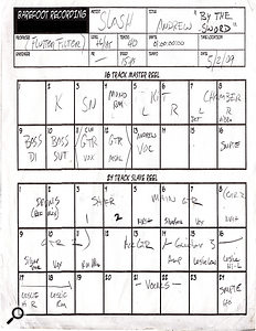 The track sheet for 'By The Sword'.