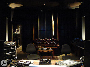 The large Schroeder diffusers on the rear wall at Moose Mastering help to ensure an accurate sound even at low frequencies.