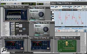 The lengthy plug-in chain for Gotye's lead vocal included Antares' Auto-Tune — used only on a few words — two instances of Cranesong's Phoenix, two Waves Renaissance De-essers, a Renaissance EQ, and McDSP's Compressor Bank.