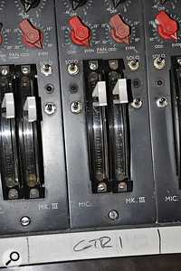 While awaiting the completion of his own mixer, Eric Valentine was forced to make do with an early '70sEMI TG‑series...