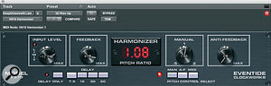 Varying degrees of machine‑like quality were achieved using combinations of Eventide's H910 emulation, Antares' Auto‑Tune and Waves' Tune.