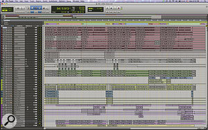 The Pro Tools Edit window from the Session for 'Under Cover Of Darkness'.