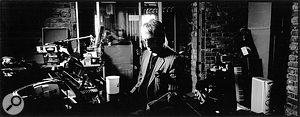 Paul Weller at the piano in his BlackBarn Studios, where Sonik Kicks was recorded.