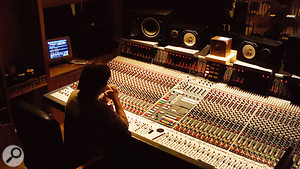 Renaud Letang at the Neve desk in Ferber Studio B, where The Reminder was mixed.