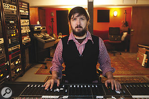 Tucker Martine at his Flora Studio in Portland, Oregon.