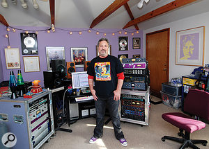 Ross Hogarth in his BoogieMotel studio.