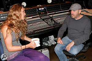 Steve Greenwell with Joss Stone at Blackbird Studios, where Soul Sessions Volume Two was tracked.