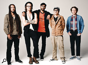 Incubus, from left: keyboard player and DJ Chris Kilmore, singer Brandon Boyd, bassist Ben Kenney, drummer Jose Pasillas II and guitarist Michael Einziger.