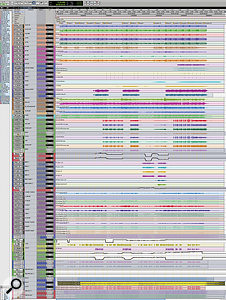 A composite screen capture showing the entire Pro Tools Session for 'The Suburbs'.