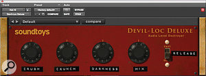 One of Steve Greenwell's favourite plug-ins is Sound Toys' Devil-Loc, which saw alot of action on the drum tracks, as here on the hi-hat in conjunction with McDSP's FilterBank.