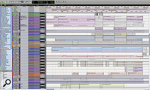 This screenshot showing part of the Session for 'We Used To Wait' illustrates how things had changed by the end of the mixing sessions in Montreal.