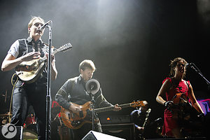 With seven members playing abattery of different and sometimes obscure instruments, it's not surprising that Arcade Fire are achallenging band to record and mix.