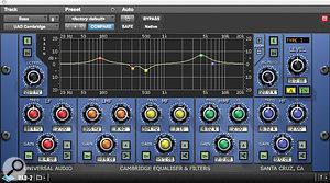 The main plug-ins used to shape the bass sound were the UA Cambridge EQ and LA2A compressor.