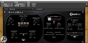 Tony Maserati created adistinctive vocal reverb treatment using Sound Toys' Echo Boy delay feeding Softube's TSAR-1 reverb.