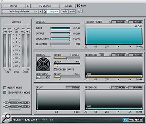 TC Works' Chorus-Delay plug-in helped to thicken the backing vocals.<note />