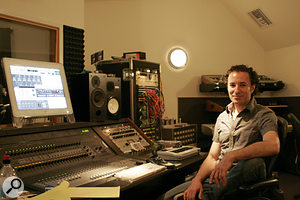 Eric Rosse at his Squawkbox Studios, where 'Love Song' was mixed.
