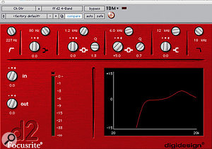 One of many guitar tracks was EQ'd to take out the low end and boost at 6kHz.