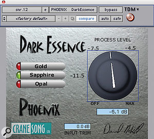 Cranesong's Phoenix plug‑in suite was used widely throughout the mix of 'Paranoid', including (as here) on the snare.