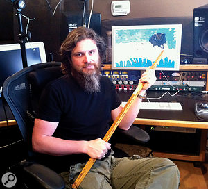Kevin Churko at his own studio, The Hideout in Las Vegas.