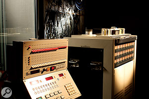 The studio's Otari 24‑track recorder is used primarily as aprocessor for low‑end sources.