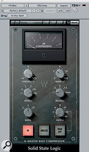 Declan Gaffney incorporated extensive master processing into his mix. Dynamic control was provided by the Waves SSL Master Bus Compressor and Massey L2007 limiter, while Waves' VEQ4 added tonal changes.