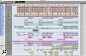 The <em>Pro Tools</em> Session for 'Makes Me Wonder' contained over 80 tracks, some of which were submixed within the program.