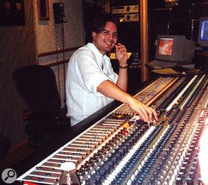 Mark Endert at the SSL desk in Scream Studios.
