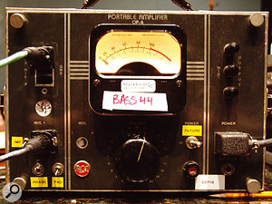 The unusual RCA OP6 tube preamp was used for some of the room mics.