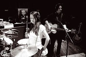 The White Stripes recording at Blackbird Studios.
