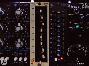 The APSI graphic EQ used to process the kick drum.