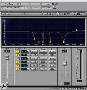As well as plenty of hardware processing, Amy Winehouse's lead vocal was treated with surgical EQ from Waves' <em>Q10</em>.