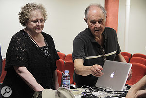 One of the highlights of the Festival was a  performance by John and Maureen Chowning of his work 'Voices'.