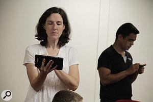 Lori Forsyth performs as part of Berklee's App Choir.