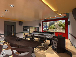 As you'd expect, the campus is equipped with state-of-the-art recording and control rooms.