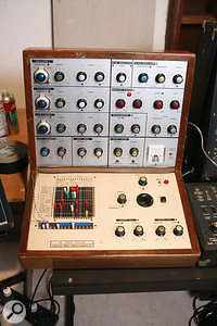 EMS VCS3 and Synthi AKS pin–matrix modular synths were central to the recreation of Oxygene; no fewer than five are visible in the pictures of Jarre's studio.