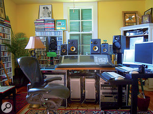 John Porter now mixes most of his own projects at home, in his Independence Street mix room.