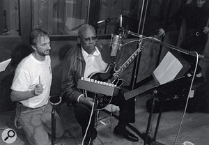 The list of blues greats John Porter has worked with is almost endless. This photo shows him at London's Westside Studio with guitar legend BB King.