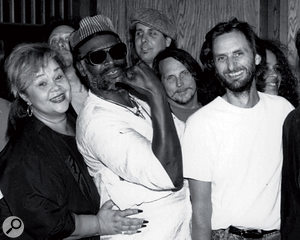 More blues legends: Porter (right) with, from left, Etta James, Bob Glaub, Taj Mahal, Joe Sublet and Richie Hayward.