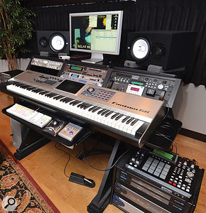There's no desk and little outboard at JR Rotem's studio at Paramount, which is based mainly around a Pro Tools HD rig.