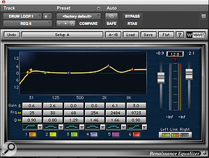 The drums for 'Run This Town' consisted of various individual drum tracks plus aloop. The latter was treated with Waves' Renaissance EQ and C4 multi‑band compressor.