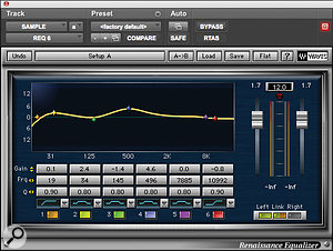 Body was added to the sample at the heart of 'Run This Town' with mid‑ and low‑frequency boost from Waves' Renaissance EQ.