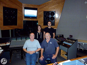 The remix team at MTSU: Colin Orr (front left), Chris Haseleu, Alicia Bognanno and Nick Morrow (rear).