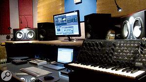Jon Hopkins' own studio is based around avery minimal setup, now using Logic on an Apple laptop computer.
