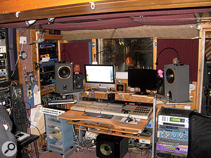 Cafe Music has been established for more than 30 years, and what it lacks in grandeur, it makes up for in atmosphere. This is the control room.