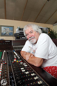 Keith Grant in his private Sunbury-On-Thames studio.
