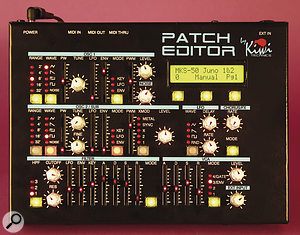 The controls on the Patch Editor's front panel only light up if they have a function on the selected synth model — very helpful.