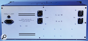 The rear panel is as simple as you'd expect from an all-analogue EQ!