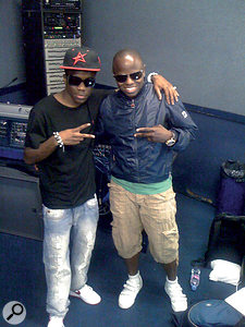 Kojo with Tinchy Stryder, whose records Kojo has helped translate to the stage.