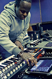 For aCarphone Warehouse promotional video, Kojo had to assemble aband of iPad-only musicians to accompany Tinchy Stryder.